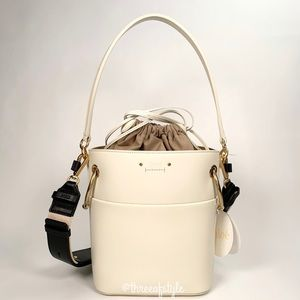 Chloe Roy Bucket Bag in Natural White Size Small